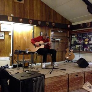 Paul Briscoe played his guitar beautifully before we took to the stage