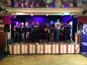 On Stage at Weston Lane Social Club